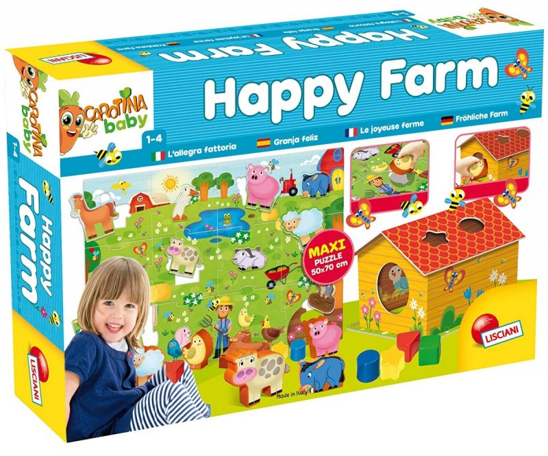 LISCIANI UKŁADANKA CAROTINA BABY PUZZLE SZCZĘŚLIWA FARMA 12M+