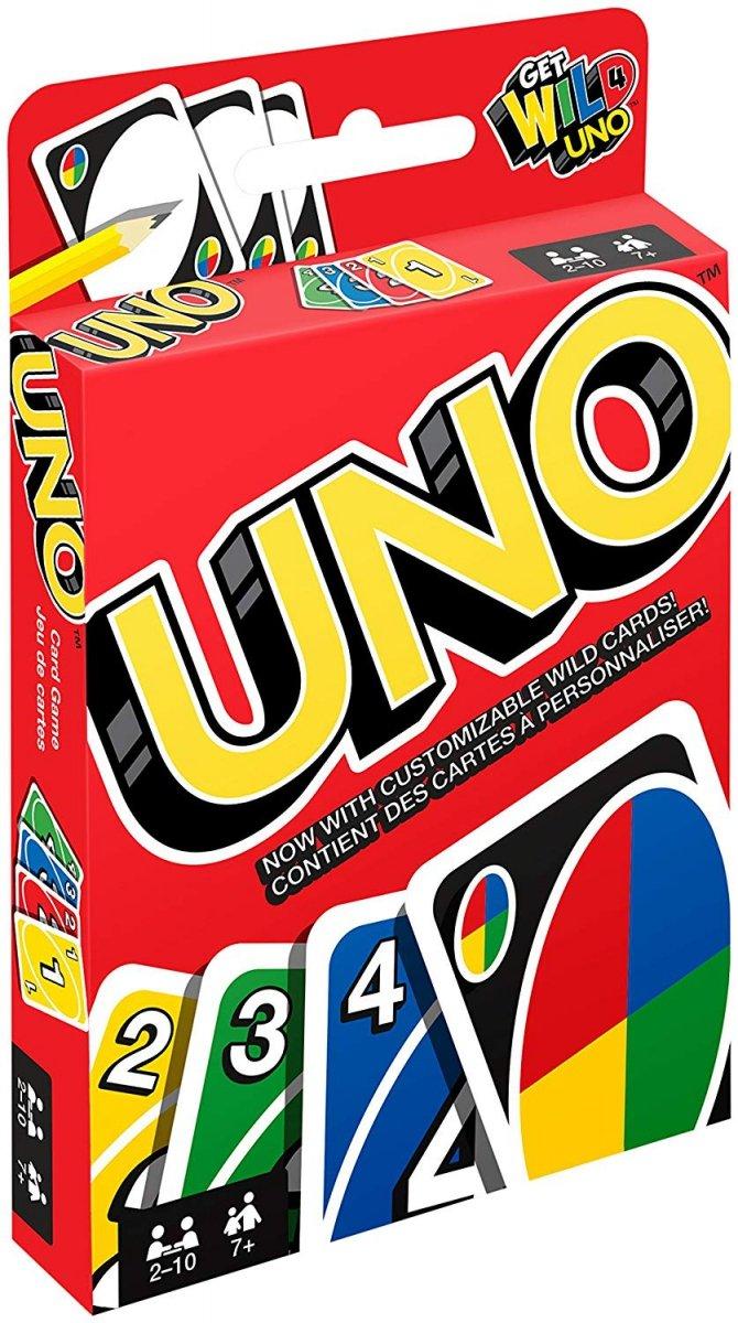 MATTEL GRA KARTY UNO - EDYCJA GET WILD 4 UNO 7+