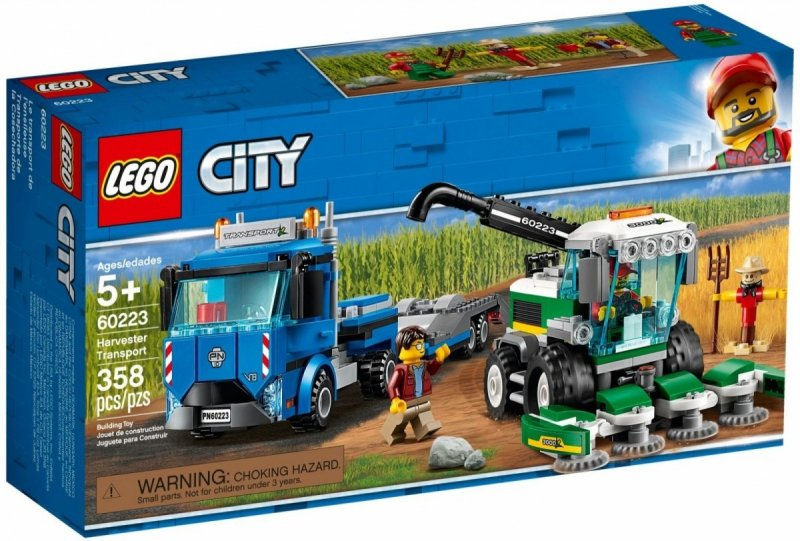 LEGO CITY TRANSPORTER KOMBAJNU 60223 5+