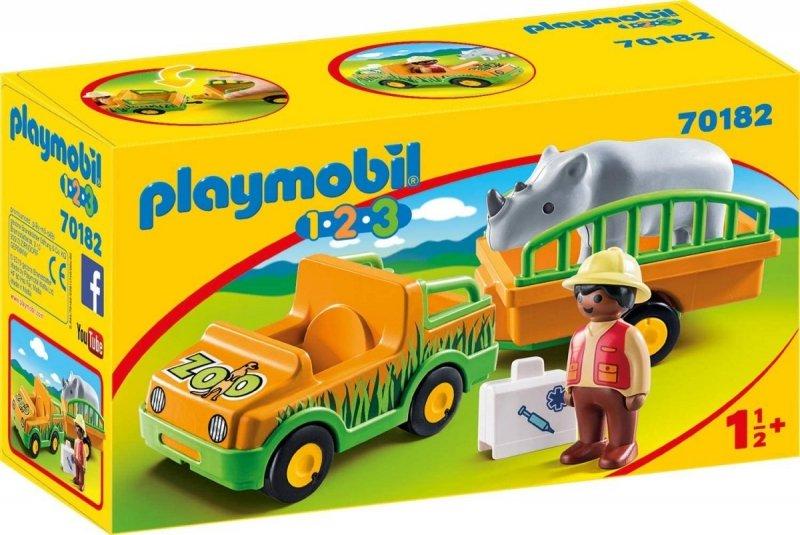 PLAYMOBIL 1-2-3 POJAZD DO TRANSPORTU NOSOROŻCA 70182 18M+