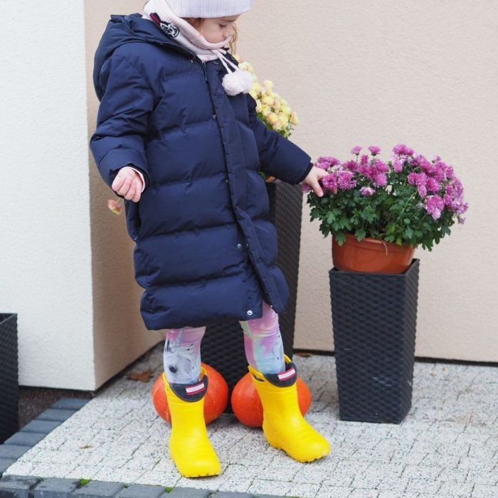 Kalosze ocieplane dla dzieci Slippers Family Yellow
