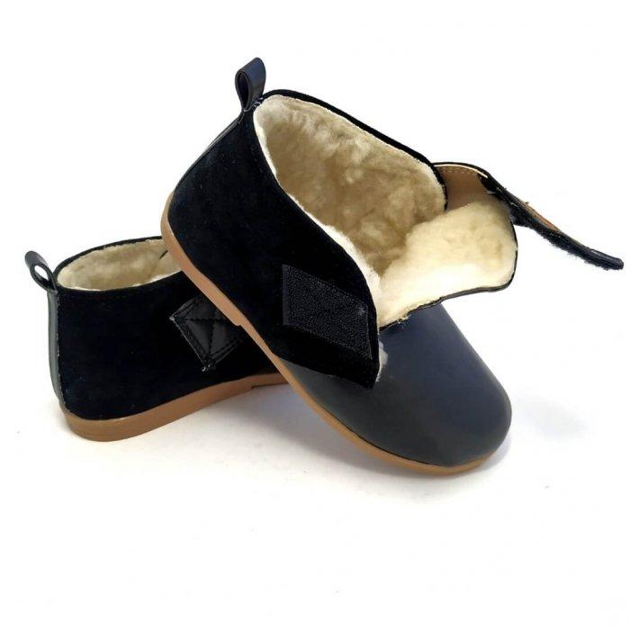 Buty dla dzieci ocieplane Slippers Family Coal