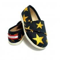Buty dla dzieci na rzep print Black Stars