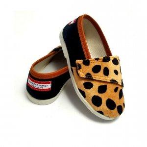 Buty dla dzieci na rzep Slippers Family Gepard