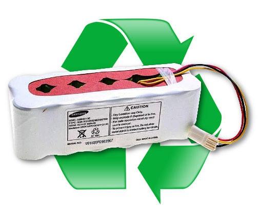 regeneracja akumulatora SAMSUNG DJ96-00136B 14,4V 2000 mAh do odkurzacza Samsung NaviBot SR8825, SR8845, SR8855, SR8895