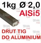 DRUT TIG AlSi5 DO ALUMINIUM  Ø 2,0 mm