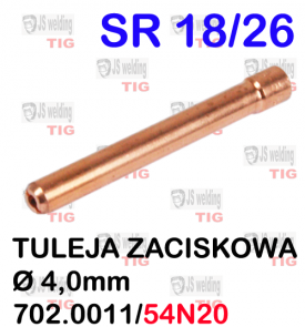TULEJA Ø 4,0 MM WP26  SR26/SR18