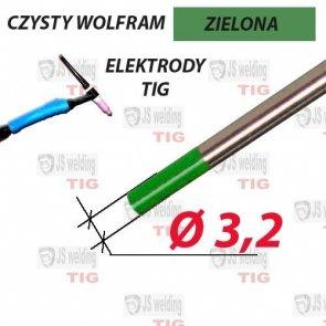 WP ELEKTRODA TIG ZIELONA Ø 3,2 mm