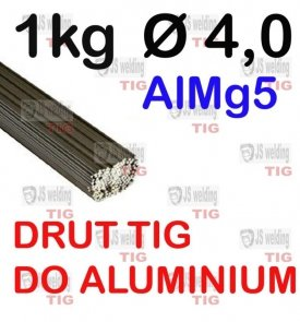 DRUT TIG AlMg5 DO ALUMINIUM  Ø 4,0 mm