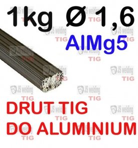 DRUT TIG AlMg5 DO ALUMINIUM  Ø 1,6 mm