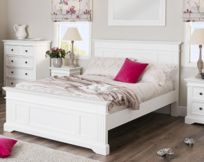 Ekskluzywne Białe łóżko Z Kolekcji Aurelia łóżka Białe łóżka