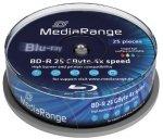 MediaRange BD-R 25GB 4x, 25 szt., printable