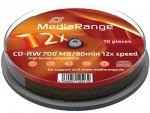 MediaRange CD-RW 700 MB 12x, 10 Szt.