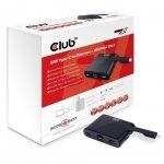 Club3D Adapter USB 3.0 Typ C > LAN/USB3/USB-C     MiniDock retail