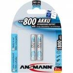 1x2 Ansmann maxE NiMH akumulator Micro AAA 800 mAh niemiecki