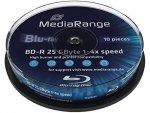 MediaRange BD-R 25GB 4x, 10 szt., printable
