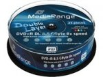 MediaRange DVD+R DL 8,5 GB 8x, 25 szt. Printable