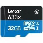 Lexar microSDHC 633x UHS-I  32GB with USB 3.0 Reader