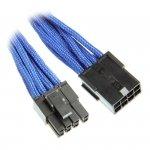 BitFenix 6+2-Pin PCIe przedłużacz 45cm - ekranowany niebiesko - czarny
