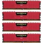 Corsair  64GB DDR4-2133 Quad-Kit, czerwony CMK64GX4M4A2133C13R, Vengeance LPX