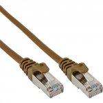 InLine 5m Kabel krosowy 100 Mbit RJ45 - brązowy
