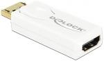 DeLOCK Adapter - Displayport - HDMI - 4K Active - biały