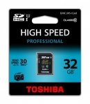 Toshiba SDHC Card Class 10 32GB High Speed Professional UHS I