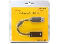 DeLOCK Adapter DP-wtyczka na HDMI-Buchse czarny