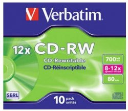 Verbatim CD-RW 700 MB 12x, 10 Szt.