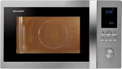 Sharp R-982STWE, Mikrofalówka stal nierdzewna