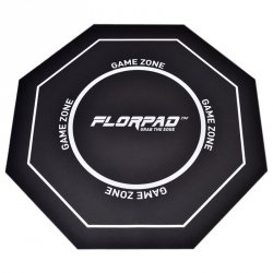 Florpad Game Zone Gamer-/eSport-Mata pod Fotel - czarna, miękka, Core