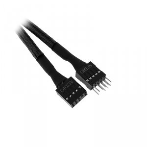 Przedłużacz BitFenix Audio 30cm - opływowy czarny