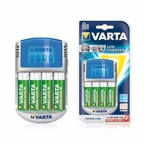 Varta Power LCD Charger 12V USB plus 4 Akkus 2500 mAh Mignon AA
