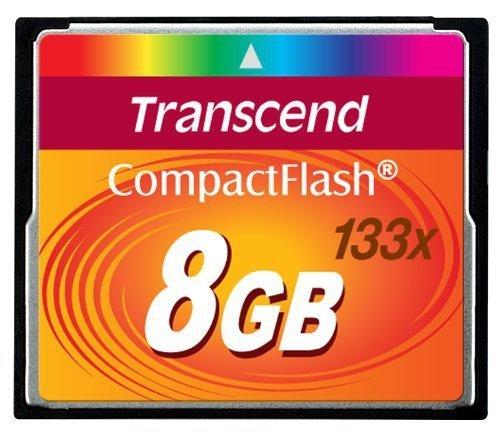 Transcend Compact Flash 8GB karta MLC 133X