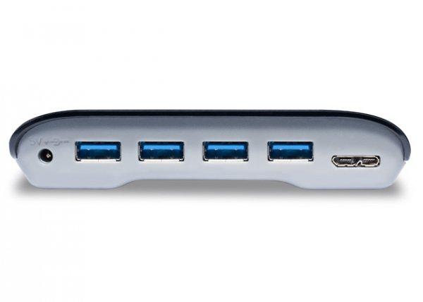 LaCie USB Hub 4 Port USB 3.0 Glossy czarny