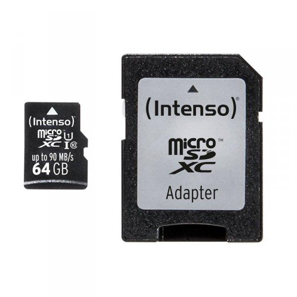 SD MicroSD Card 64GB Intenso SD-HC UHS-I Professional