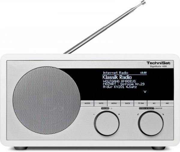 TechniSat DigitRadio 400 DAB+ Internetradio WLAN Blutooth biały