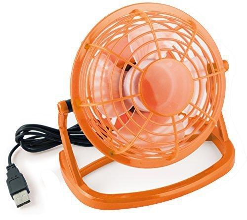 Mumbi cichy wentylator USB  pomarańczowy