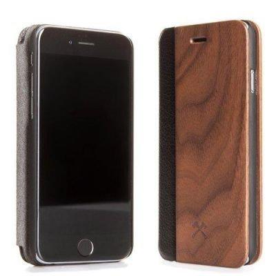 Woodcessories EcoFlip Business iPhone 7 Plus walnut + leather