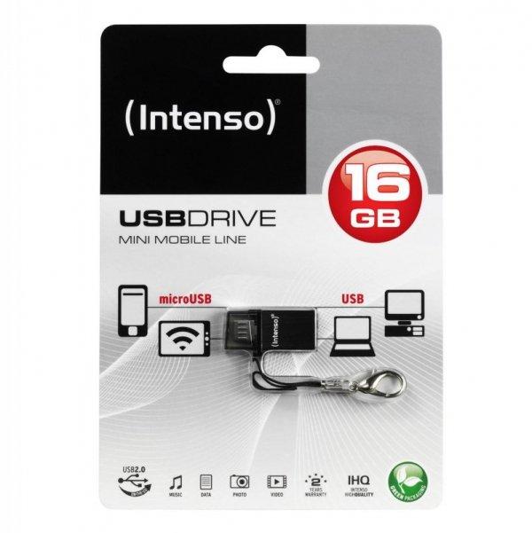 USB-Stick 16GB Intenso 2.0 Mini Mobile Line OTG