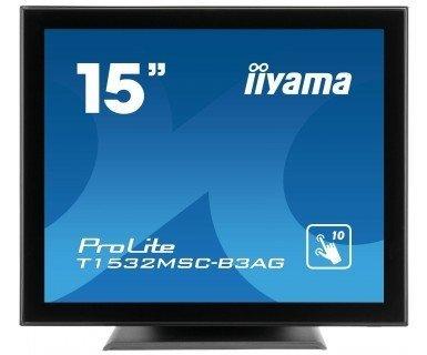 iiyama ProLite T1532MSC-B3AG, czarny, Touchscreen, DVI-D, VGA, Sound