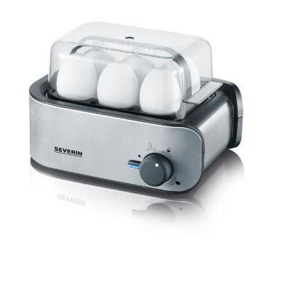 Severin EK 3134 - jajowar na 6 jajek - srebrno czarny