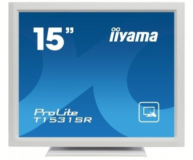 iiyama ProLite T1531SR-W3, LCD-Monitor biały, Touchscreen, DVI-D, Sound