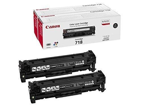 1x2 Canon Toner Cartridge 718 BK VP Zestaw dwóch tonerów