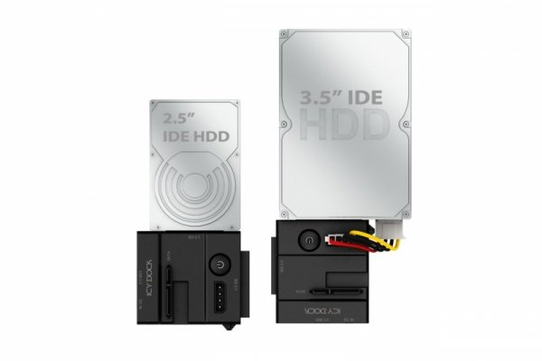 IcyDock MB981U3N-1SA Adapter black - USB 3.0 2.5 Cala / 3.5 Cala SATA & IDE HDD & SSD