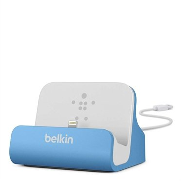 Belkin Lightning Sync/Lade Dock iPhone 6/5/5s blau   F8J045BTBLU