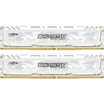 Crucial Ballistix Sport LT 16GB Kit 8GBx2 DDR4 2400 288pin biały