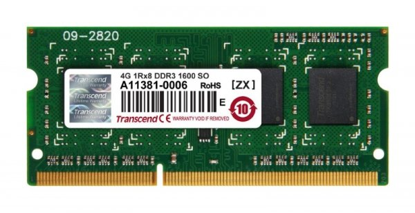 Transcend SO-DIMM 4GB DDR3-1600,JM1600KSH-4G, JetRam