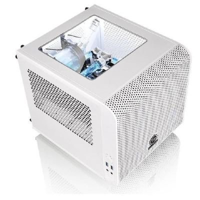 Thermaltake Core V1 Snow Edition, Tower biały, Window-Kit