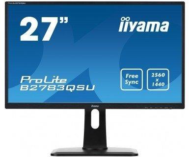 iiyama ProLite B2783QSU, czarny, HDMI, DVI-D, DisplayPort, Audio